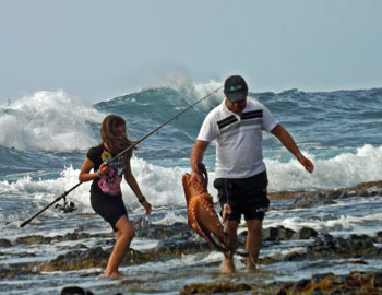 Tristan fishing
